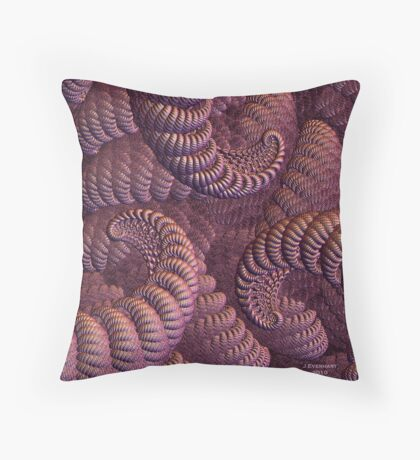 Fancy Ropes and Curls Throw Pillow