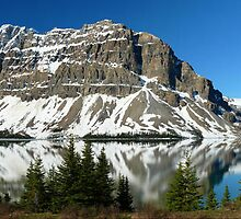 Early morning at Bow Lake...a Gigapan panorama by Darbs
