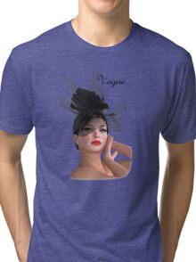 Vogue - fashion model Tri-blend T-Shirt