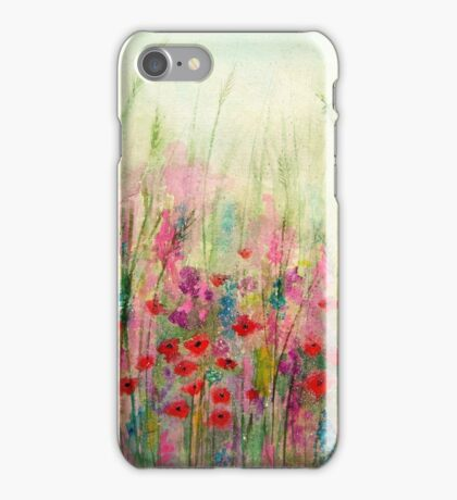 'Spring Meadow' - original watercolour 2015 iPhone Case/Skin