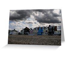 Moody skies over Aldeburgh  Greeting Card