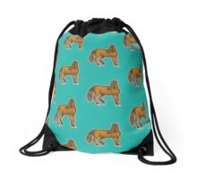 Chestnut Horse Drawstring Bag
