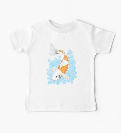 Fish carp Koi - Orange Baby Tee