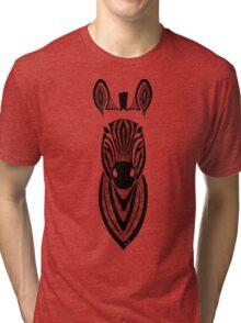 Zebra black and white Tri-blend T-Shirt