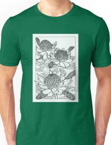 Australian Flower Series - Waratah B&W Unisex T-Shirt