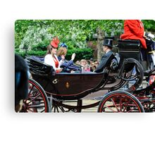 Princess Eugene... Trooping of the Colour, London, UK. Canvas Print