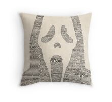 Scream - Movie Typography Throw Pillow
