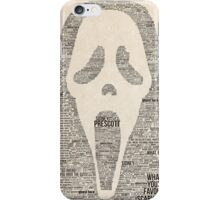 Scream - Movie Typography iPhone Case/Skin
