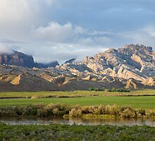 Split Mountain & Green Field by Kim Barton