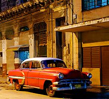 Classic American car at Dawn, Havana, Cuba by buttonpresser