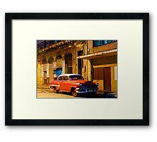 Classic American car at Dawn, Havana, Cuba Framed Print