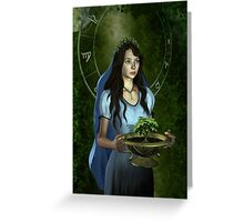 Virgo zodiac fantasy circle Greeting Card