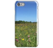 Sunny Flower Field and Blue Skys iPhone Case/Skin