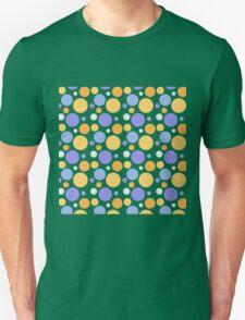 Vintage purple orange polka dots pattern Unisex T-Shirt