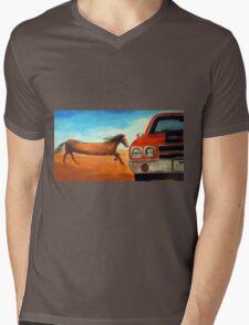 The Long Horse Mens V-Neck T-Shirt
