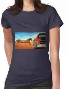 The Long Horse Womens Fitted T-Shirt