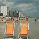 Beach chairs awaiting ... by JimSanders