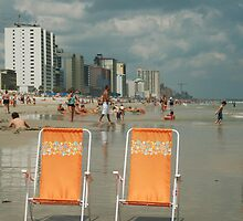 Beach chairs awaiting ... by JimSanders