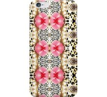 Girly pink black white abstract animal print  iPhone Case/Skin