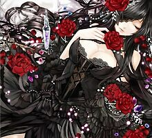 Black red Rose by S4beR