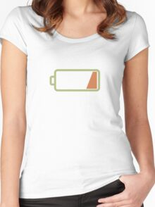 Silicon Valley - Low Battery Women's Fitted Scoop T-Shirt