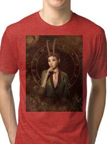 Capricorn Zodiac fantasy edition Tri-blend T-Shirt
