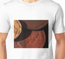 Old Coins Close Up Unisex T-Shirt