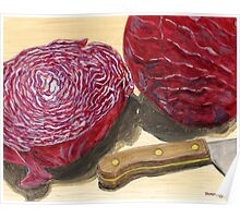 Colorful Cabbage Consumables Poster