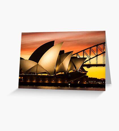 Sydney Icons Sunset Greeting Card