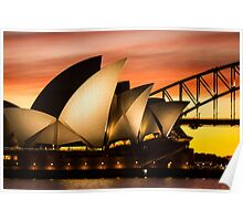 Sydney Icons Sunset Poster