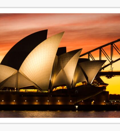 Sydney Icons Sunset Sticker