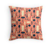 Menu pattern Throw Pillow