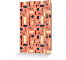 Menu pattern Greeting Card