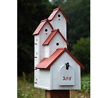 Condo Birdhouse, Mailbox Photographic Print