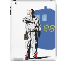 tardis to the futur  iPad Case/Skin