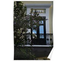 Elegant Tropical Balcony - the Beautiful Colonial Architecture of Old San Juan, Puerto Rico Poster