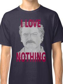 Ron Swanson Pencil Portrait Classic T-Shirt