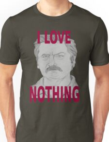 Ron Swanson Pencil Portrait Unisex T-Shirt