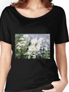 White Summer Roses Women's Relaxed Fit T-Shirt