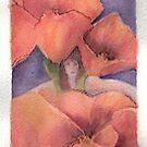 Girl within poppies by Ellen Keagy