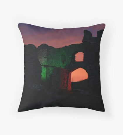Spooky Castle Throw Pillow