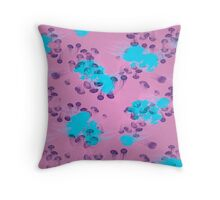 Psychedelic Jellyfish Purple (Medusa V.2) Throw Pillow
