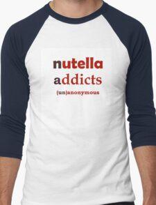 Nuttella Addicts Unanonymous Men's Baseball ¾ T-Shirt