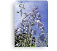 Blue Delphinium Flower Tower Canvas Print