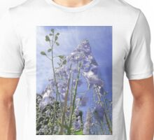 Blue Delphinium Flower Tower Unisex T-Shirt