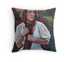 Gold and Scarlet Throw Pillow
