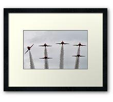 RAF Red Arrows Display Team Framed Print