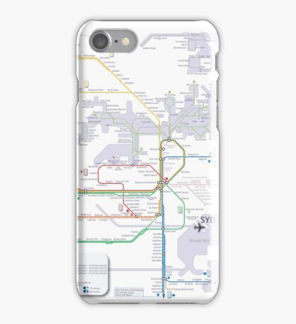 Sydney train and ferry map iPhone Case/Skin