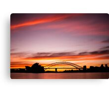 Sydney Icons Long Exposure Canvas Print