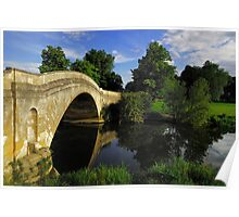Bridge over River Ouse, Buckinghamshire Poster